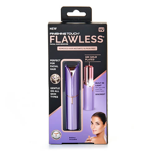 Finishing Touch Flawless - Eliminador de pelo para mujer sin dolor, color dorado rosa